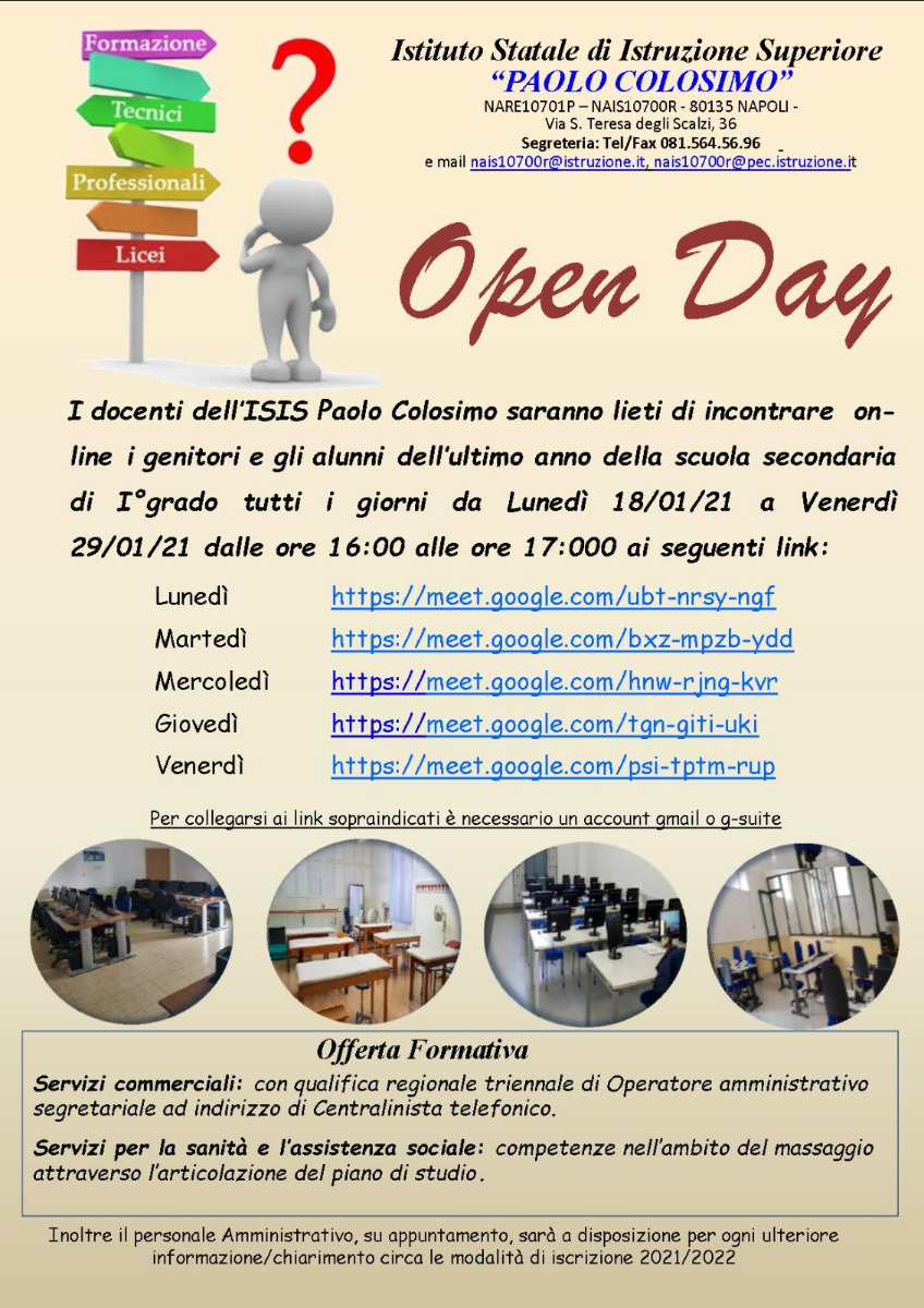 OPEN DAY - COLOSIMO - 20/21