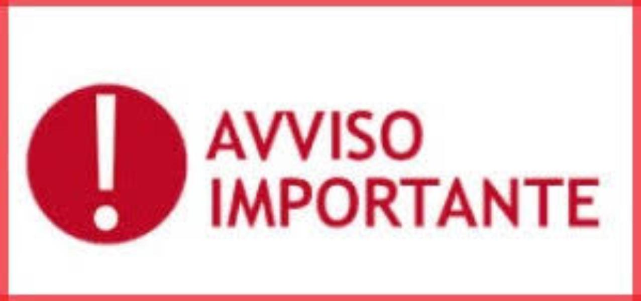 AVVISO - CORONAVIRUS -
